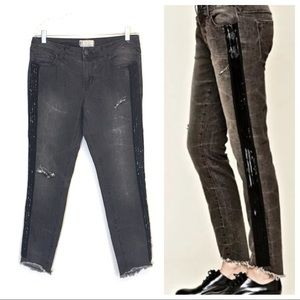 Free People Solstice Beaded Distressed Skinny Jean